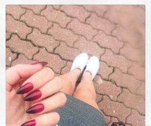 nails, nails art, and ombre nails image