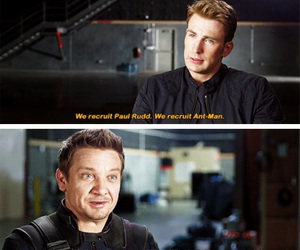 captain america, funny, and hawkeye image