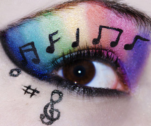 music, eyes, and eye image