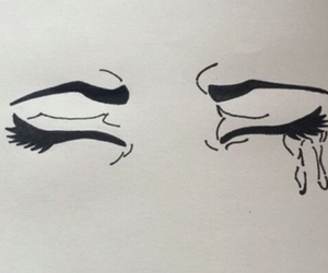 cry, draw, and eyes image