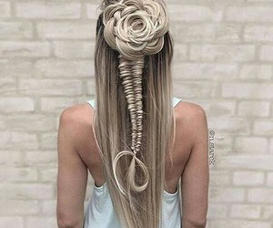 art, braid, and colors image
