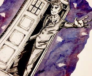 david tennant, doctor who, and drawing image