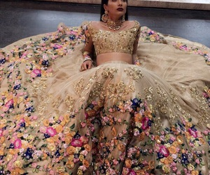 dress, bollywood, and fashion image