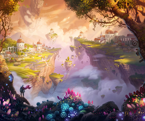 fantasy, Island, and landscape image