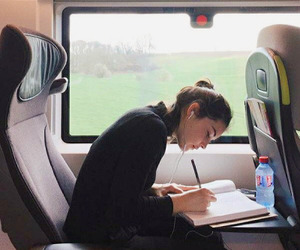 book and train image