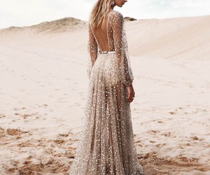 dress, fashion, and beach image