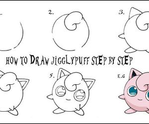 jigglypuff, pokemon, and how to draw image