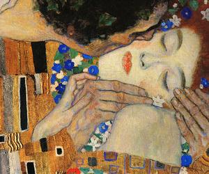art, the kiss, and Gustav Klimt image