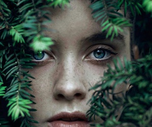 girl, eyes, and nature image