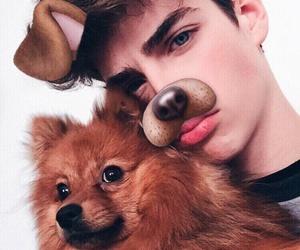 boy, dog, and manu rios image