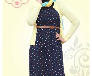 hijab fashion maxi dress image