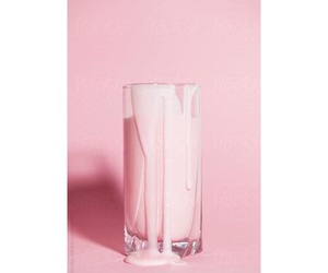 drinking, milk, and pink image