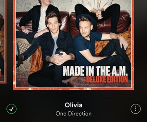 olivia, spotify, and onedirection image