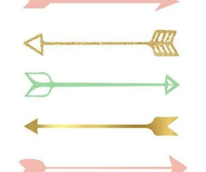 wallpaper, arrows, and gold image