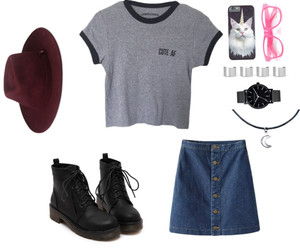 boots, clothes, and cutie image