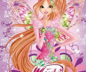 cartoon, fairy, and flora image