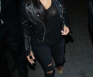 kim kardashian, style, and black image