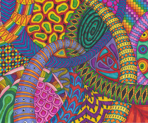 colourful, patterns, and psychedelic image