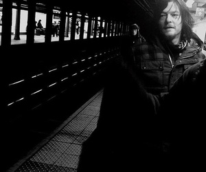 black and white, coat, and norman reedus image