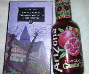 book, church, and green tea image