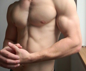 boy, muscles, and skin image