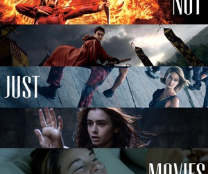 movies, harry potter, and the hunger games image