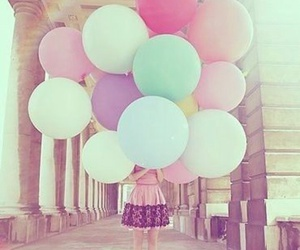 balloons and pastel colors image