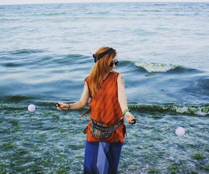 hippie, hipster, and sea image