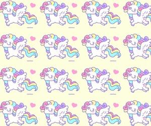 pastel, unicorn, and yellow image