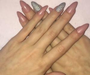 glitter, long, and nails image