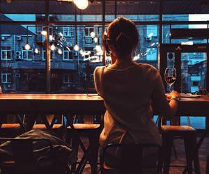 bar, lights, and drinking image
