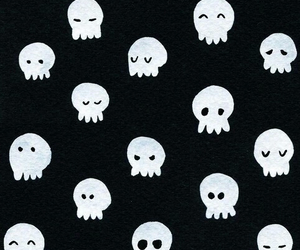 skull, wallpaper, and black and white image