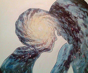 love, galaxy, and art image