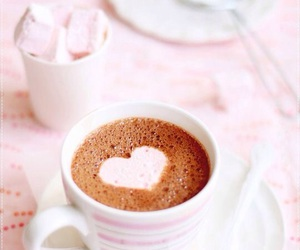 coffee, heart, and pink image