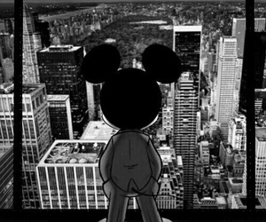 wallpaper, black, and mickey image