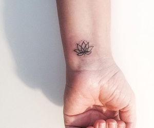 flower, flowers, and small tattoo image