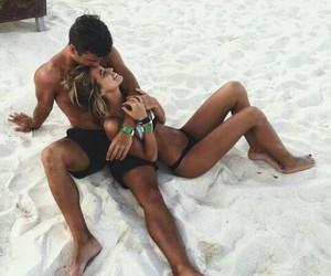 beach, fashion, and kiss image