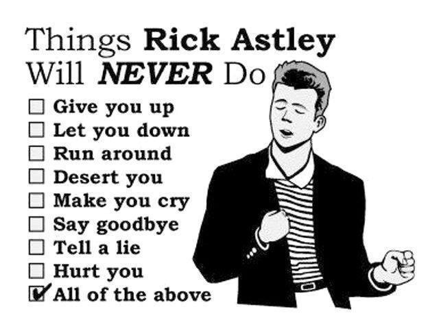 Rick Astley and funny image