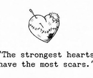 heart, scars, and strong image