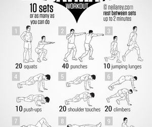batman, workout, and fitness image