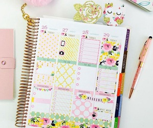 agenda, college, and floral image