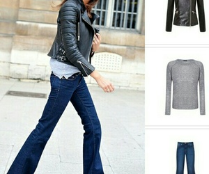 couro, jeans, and moda image