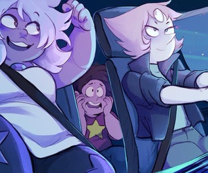 steven universe, amethyst, and pearl image