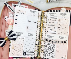 college, planner, and cute image