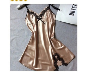 lingerie, sexy, and gold image