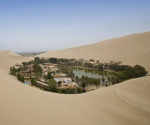 oasis, desert, and peru image