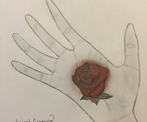 death, art, and hand image