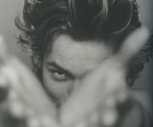 river phoenix, black and white, and 90s image