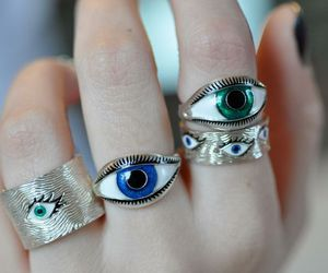 rings, eyes, and grunge image