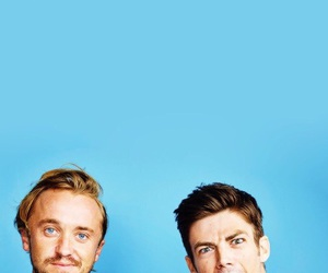grant gustin, tom felton, and the flash image